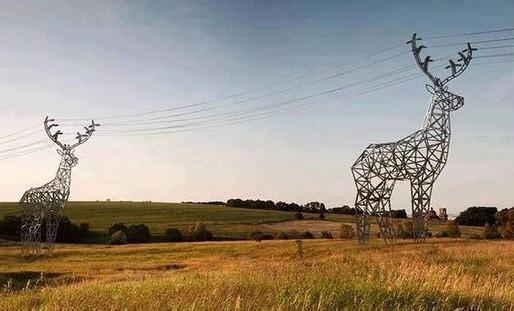 Bathurst: des pylônes électriques en forme de chevreuil pour attirer les touristes