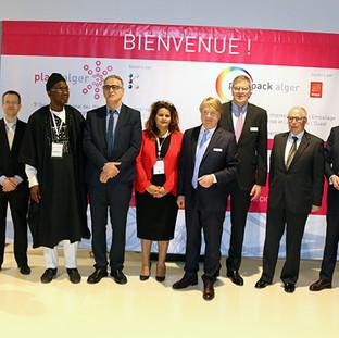 12 Mars 2018 - La Présidente de l'UPIAM inaugure avec le Secrétaire Général du Ministère de l'Industrie le Salon International de la Plasturgie