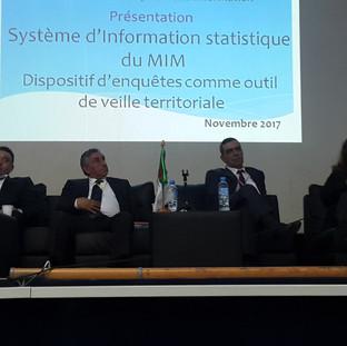 21 Nov. 2017 - La Présidente de l'UPIAM intervient au séminaire sur la Veille Territoriale organisé par le DGVSE (MIM)