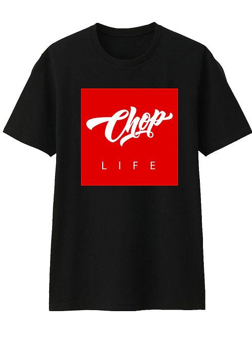 Black/Red Chop Life Box T-Shirt