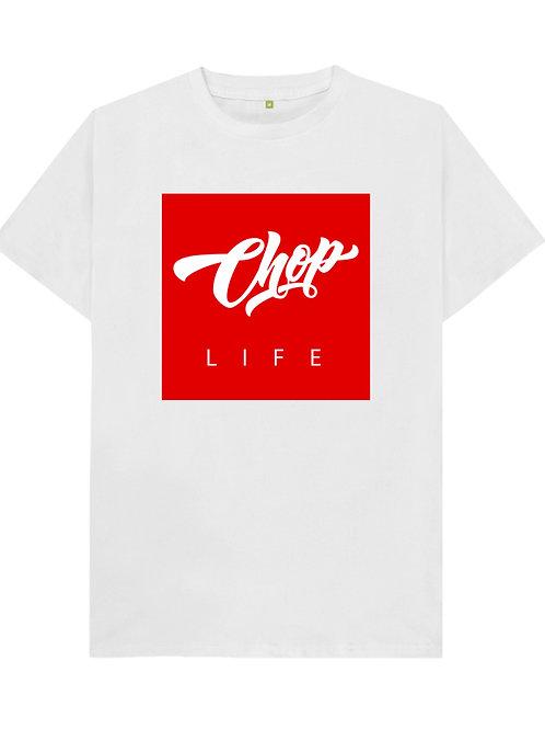 White/Red Chop Life Box T-Shirt