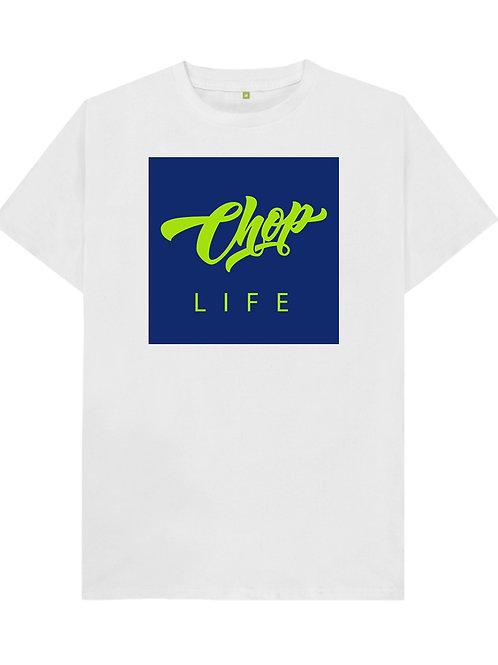 White/Neon Chop Life Box T-Shirt