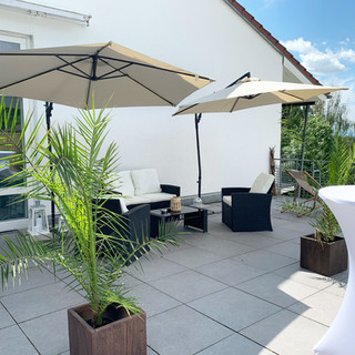 Loungebereich in der Mietlocation Habitat Esslingen