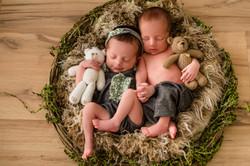 Ensaio newborn de gemeos rj