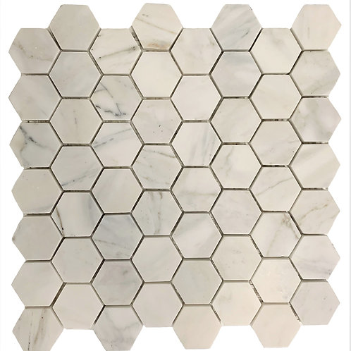 "Calacatta Gold 2"" Hex Honed"