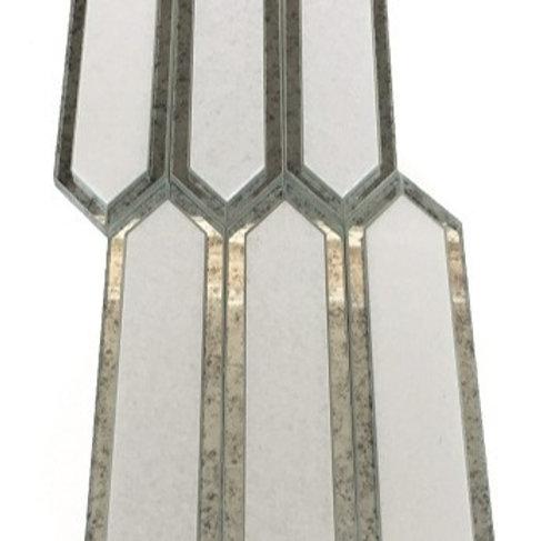 Hampton Thassos with Antique Mirror Line Polished