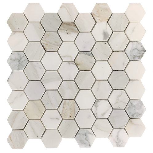 """Calacatta Gold 2"""" Hex Polished"""