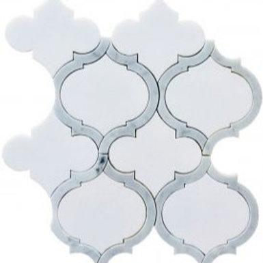 WJ Allure Thassos with White Carrara Polished