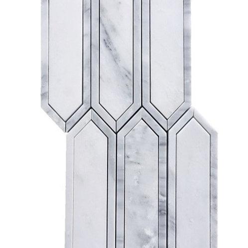 Hampton Oriental White with Oriental Grey Line Polished