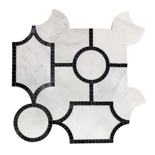 WJ Avenza Oriental White with Nero Frame