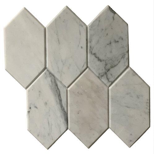 Carrara Beveled Hex Polished