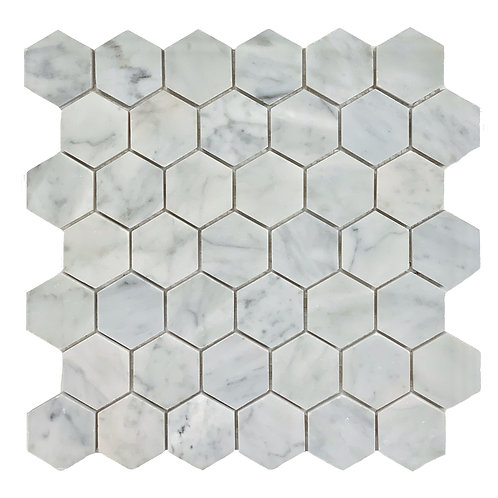 "Carrara 2"" Hex Honed RT6001"