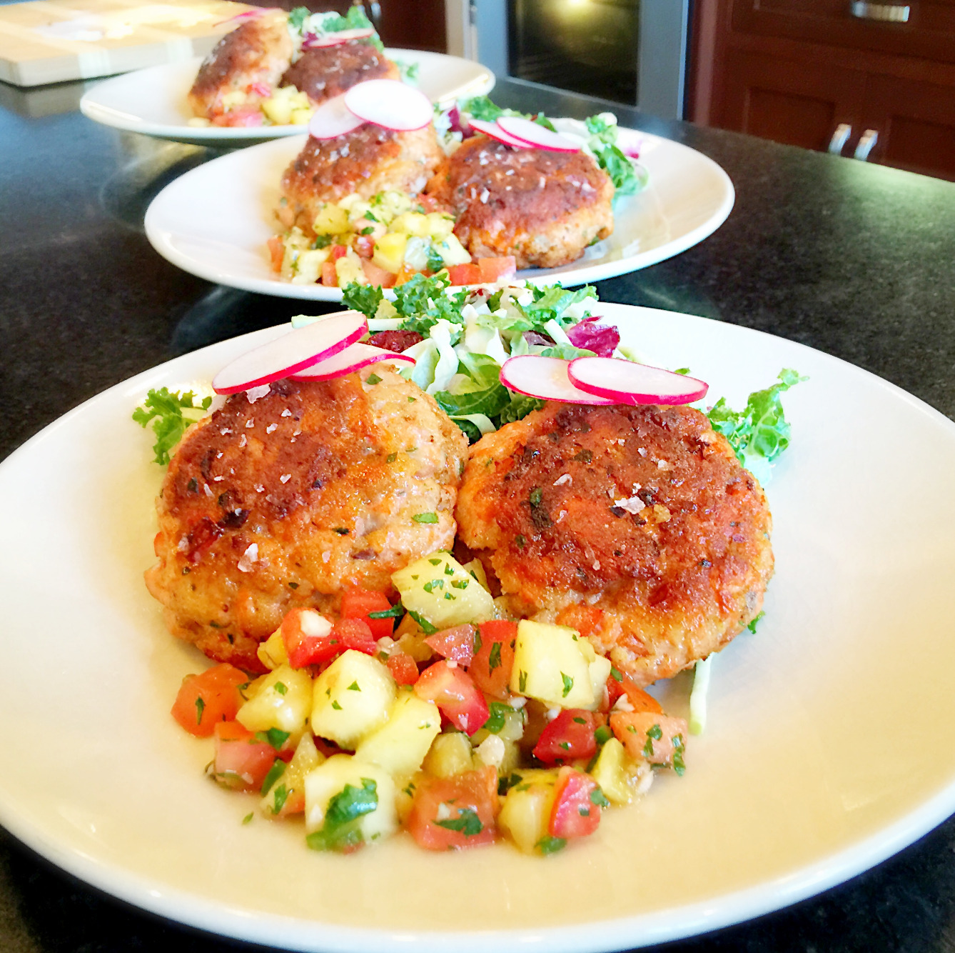 Salmon Cakes with Tropical Salsa