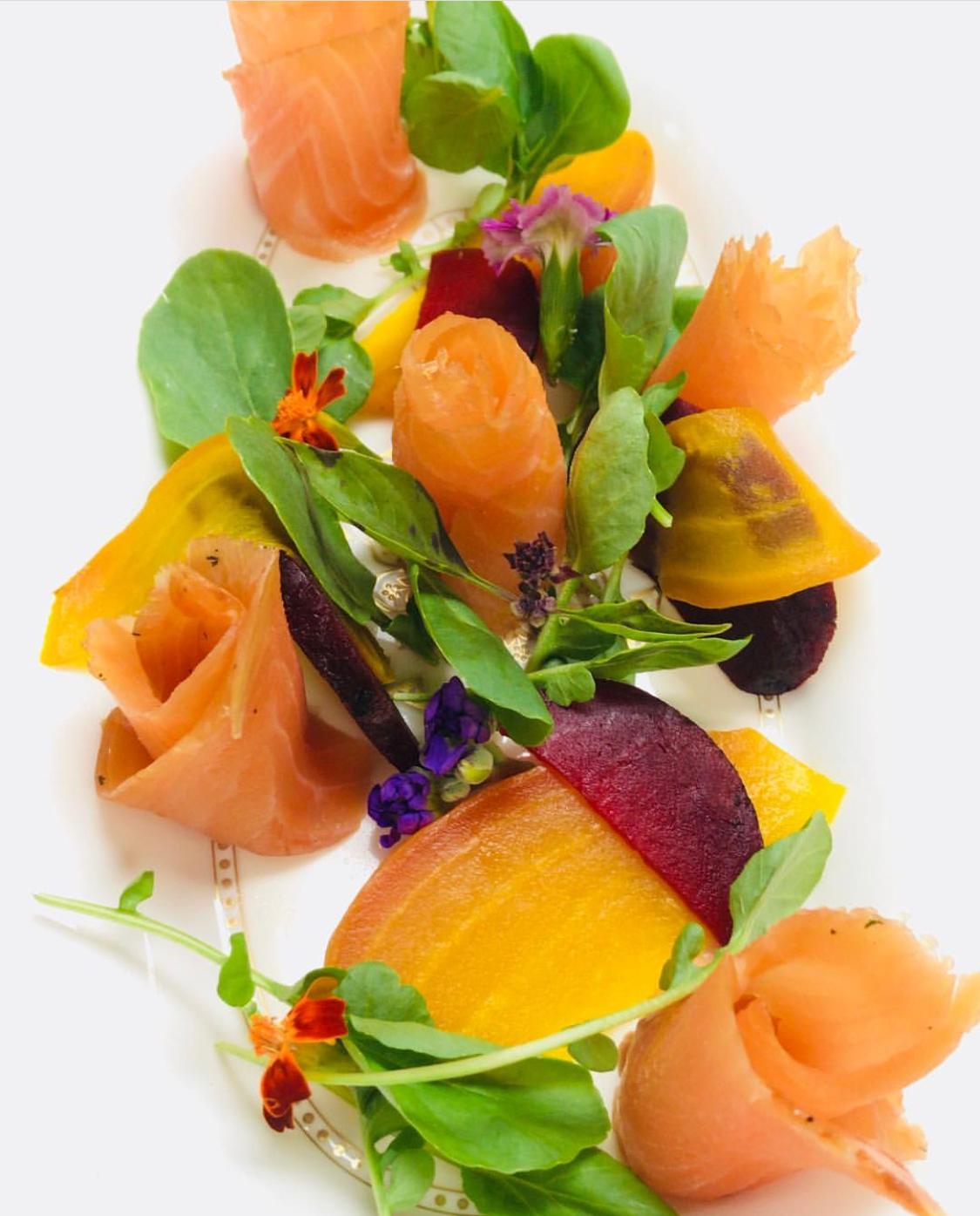 Smoked Salmon & Beet Salad