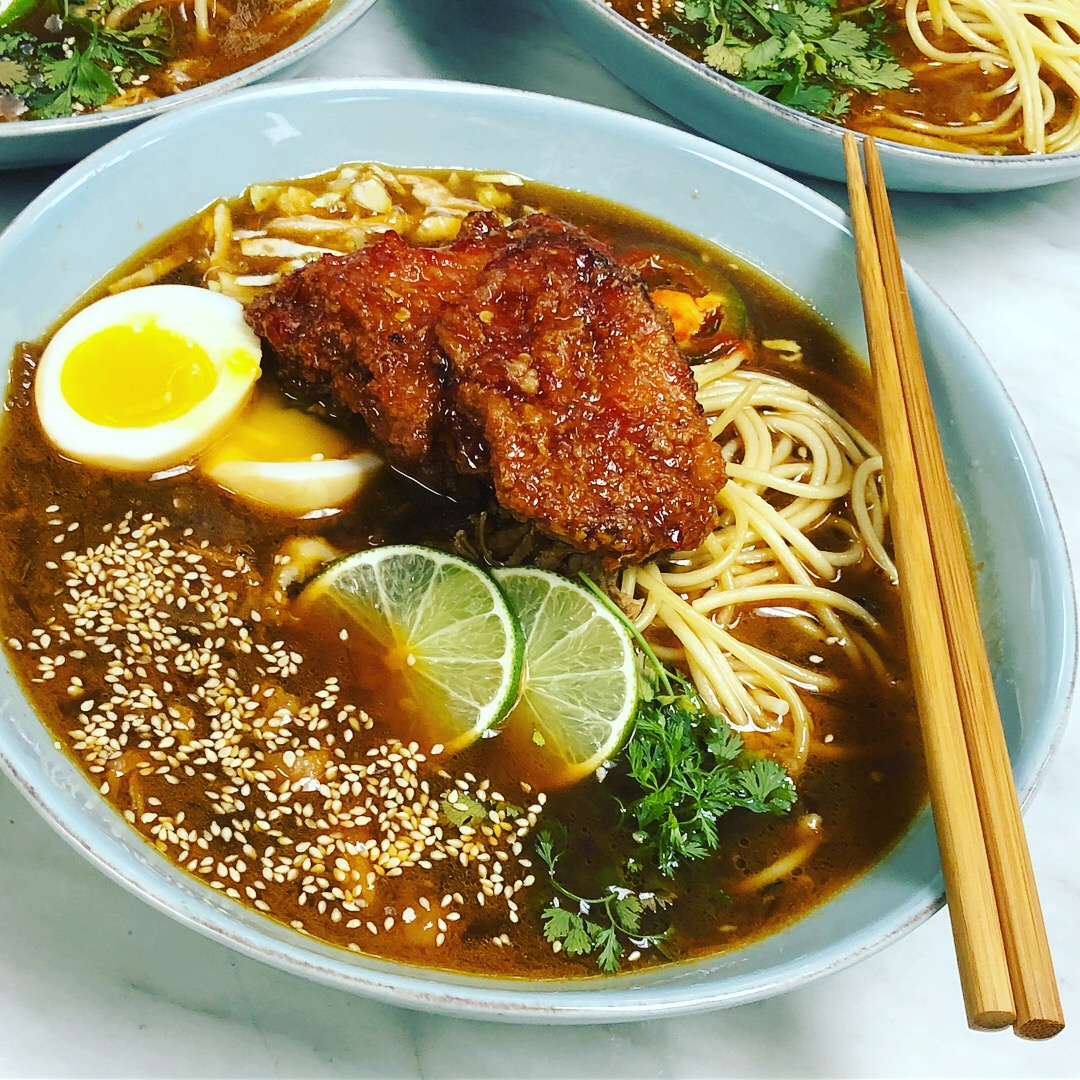 Crispy Sweet Chili Chicken Ramen Bow