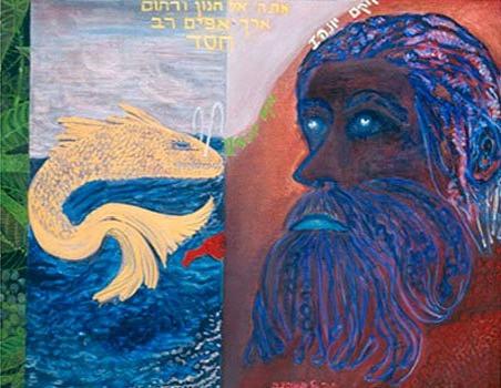The Prophet Jonah [2], 2004, oil on canvas, 140x100 cm