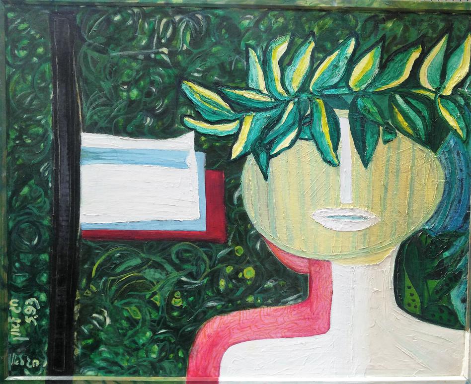 Luarel, 1993, oil on canvas, 90x70