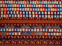Gnizat Tehilim Ilan, 2009,collage of book of Psalms, table cloth, 150x120