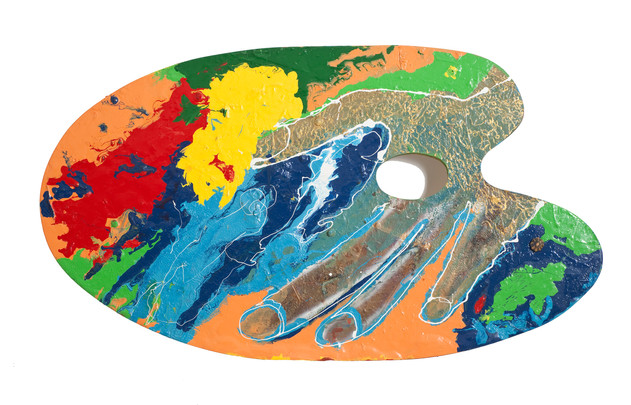 The Artist's Palette, 2009, mixed media on wood, 130x75