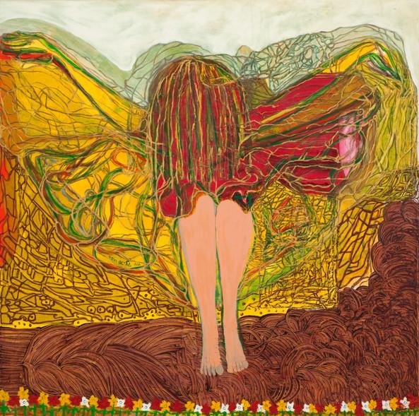 Landing, 2008, oil on canvas, 110x120