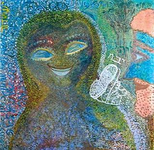 Ruth [2], oil on canvas, 100x100 cm