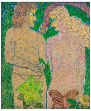 Eve & Adam, 2007, oil on canvas, 135x100 cm