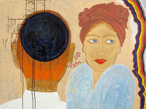 Taryag (248 Organs +365 Tendons =613 Mitzvas), 2005, oil on canvas, 100x135