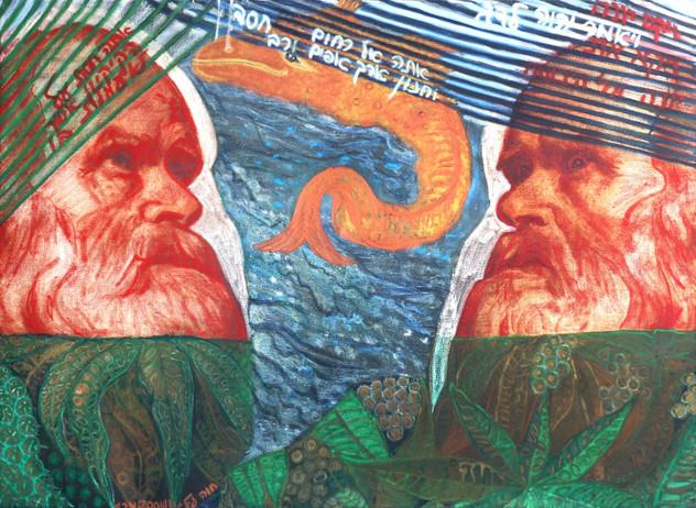 The Prophet Jonah [1], 2004, oil on canvas, 140x100 cm