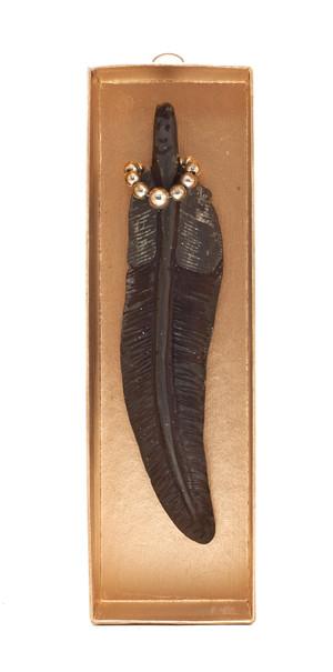 Feather Graphite, 2013, graphite in a box, 18x5