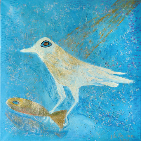 Fly and Sail, 2009, oil on canvas, 100x100