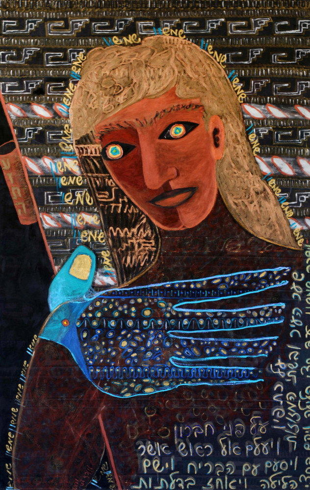 Samson and the Gates of Gaza, 2002, oil on canvas, 190x120 cm