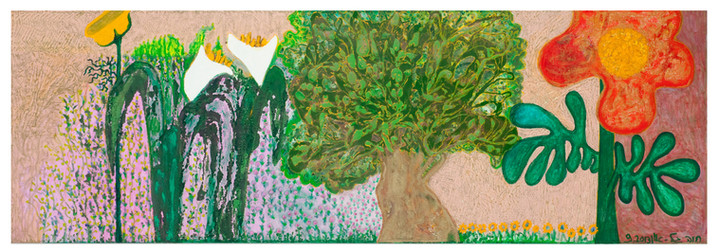 Flowers [2], 2012, oil on canvas, 80x250
