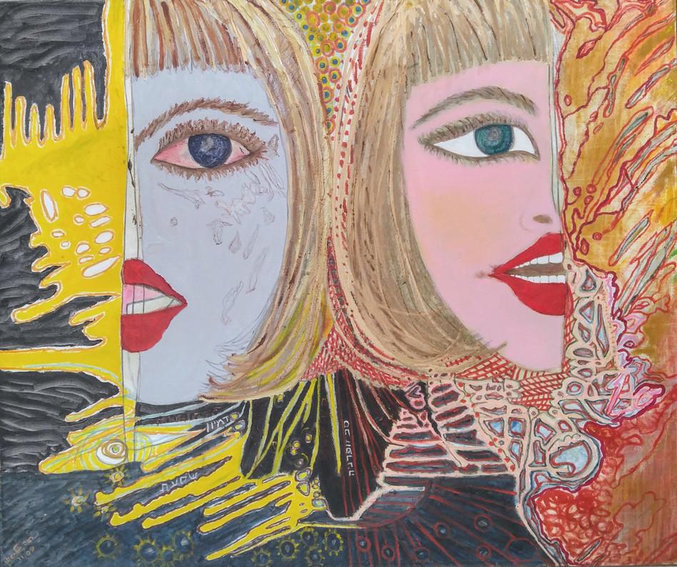 Both, 2009, oil on canvas, 120x85