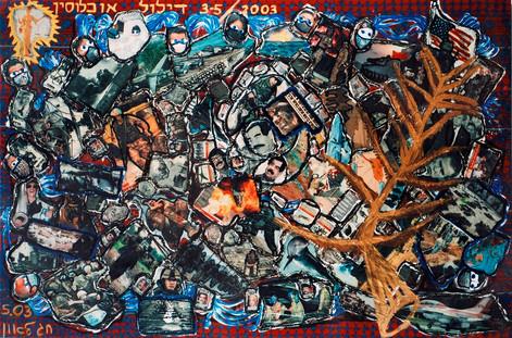 Palme D'Or, 2003, collage,120x180