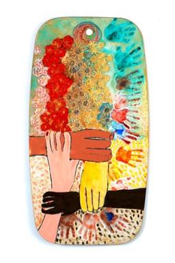 Joint Community, 2010 oil on artist's palette, 115x61
