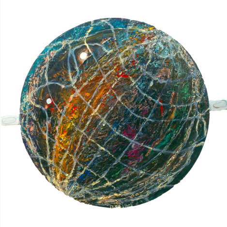 The Globe's Creation 1999, oil on plywood, 120⌀
