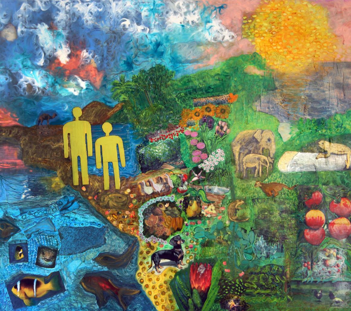 Paradise, 1999, collage, 120x160
