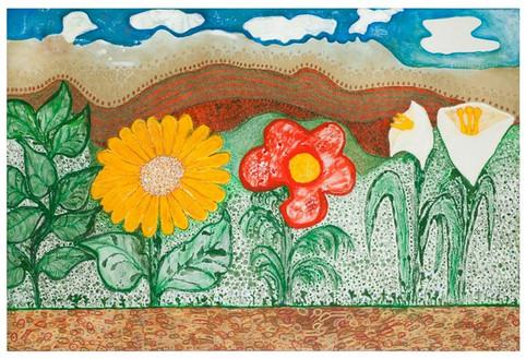 Flowers [3], oil on canvas, 120x180