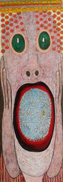 Homage Edvard Munch, 2012, oil on canvas 60x180