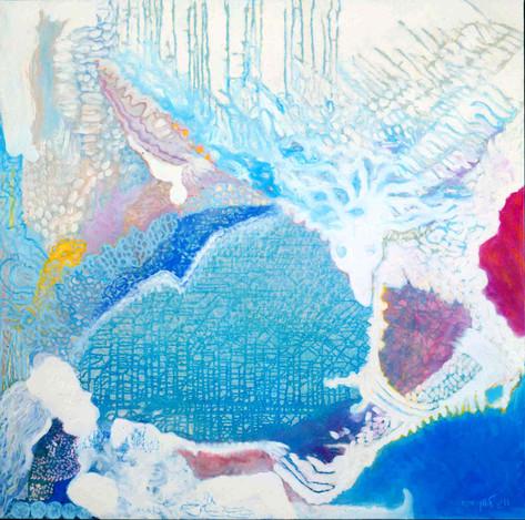 Heaven [13], 1997, oil on canvas, 100x100
