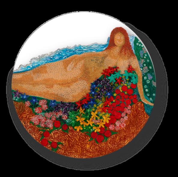 Rachav, 2004, oil on plywood, diameter 120 cm