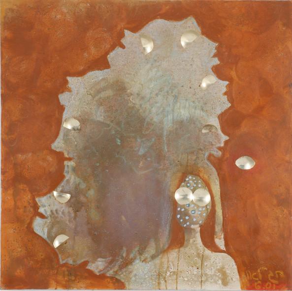 Profiles, 2001, oil on canvas, 100x100