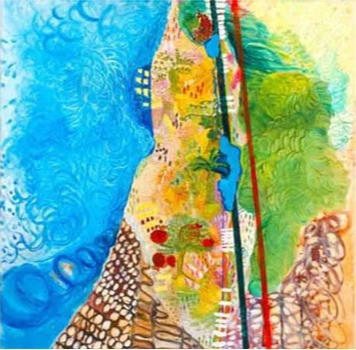 Israeli Boarders, 1998, oil on canvas, 100x100