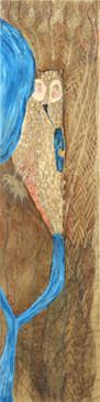 Israel Birds (Owl), 2009, oil on canvas, 180x50