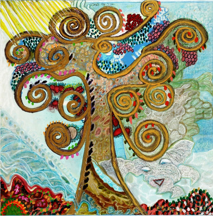​Tree of Life [1], 2008, oil on canvas, 100x100