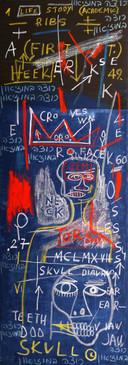 Homage Jean Michel Basquiat, 2015, oil on canvas 70x180