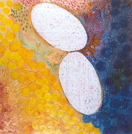 Laid Egg, 2001, oil on canvas, 130x130