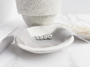 The making of my recycled silver Pebble range