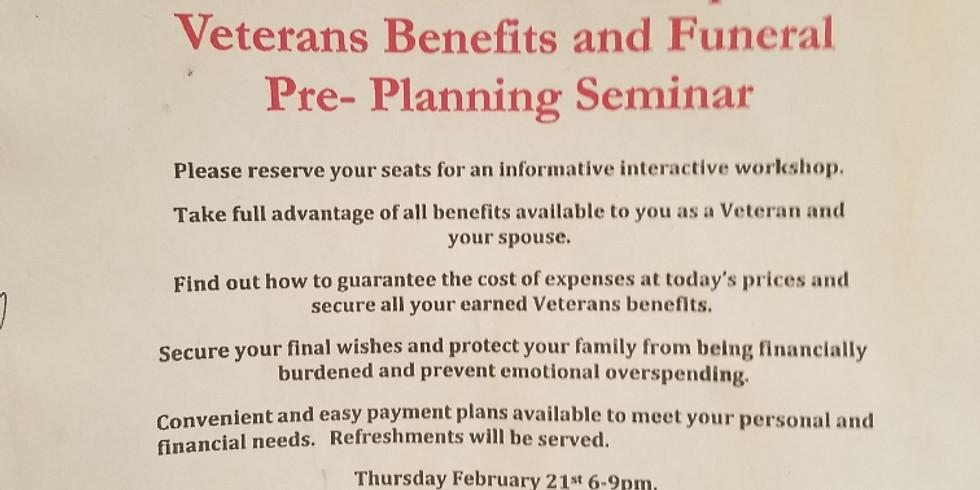 Veterans Benefits and Funeral Pre-Planning Seminar