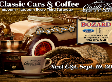 Don't Miss Cars & Coffee Sept. 19th!